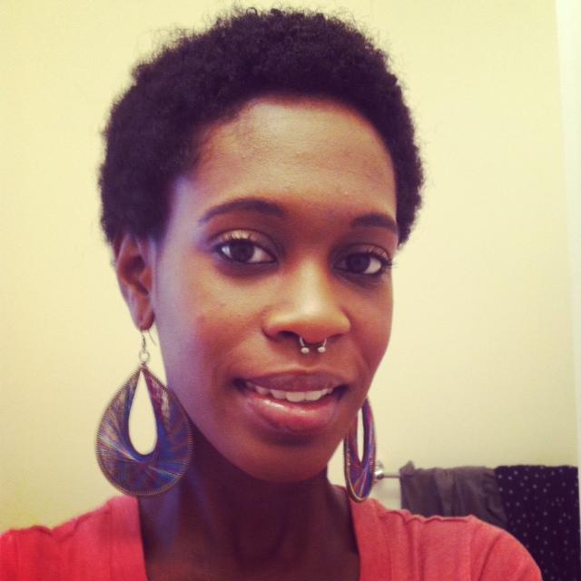 Black Girl Septum Piercing