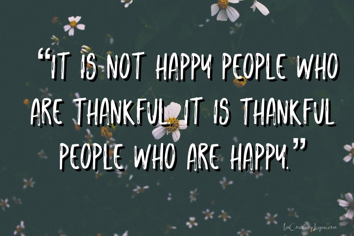 Practicing Thankfulness…